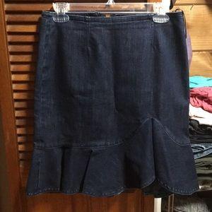 Jean material skirt